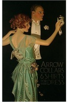 1923 J.C. Leyendecker Arrow Collars Ad, Man & Woman Dance, Vintage ad PRINT,