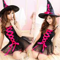 Halloween sexy thin tulle dress pirate costume cos demon