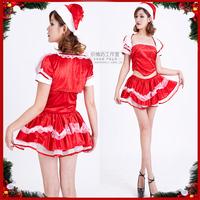 Piece set Christmas clothes lolita christmas clothing christmas installation ktv princess clothing ds performance wear