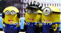 Action figure,Despicable me 2, Cartoon Figure,3pcs/set,9cm tall, Minion,PVC, Best gift, FREE SHIPPING