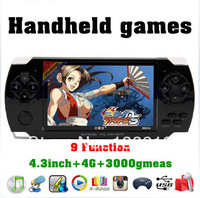 4.3inch 4G handheld game console screen built-in 3000 classic game suport MP3 MP4 MP5 E-book Photo video picture scan TF as gift