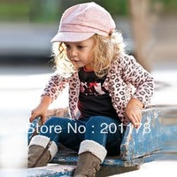 181free shipment autumn style fashion outer wear+T-shirt+pant 5sets/lot  baby's suits girl's suits