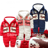 Children Rompers Jumpsuit Brand clothing Knitted One-piece suit Baby Boy wear Fur 2014 Winter Warm clothes Costume for Kids