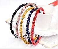 Hair  Accessories Fold Cloth Art Star Hair Band 9Piece A Lot Girls  Free Shipping Fashion Headwear  2013Fashion Style
