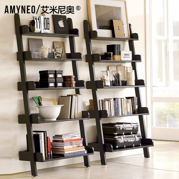 Aimy huguenots furniture american wood bookshelf magazine rack shelf r03