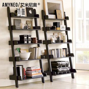 Aimy huguenots furniture american wood bookshelf magazine rack shelf r03
