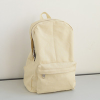 Backpack casual all-match backpack canvas backpack classic brief