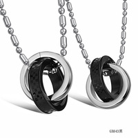 promotion the vampire diaries jewelry black silver necklace for women titanium plaid lovers necklace meia black men necklace