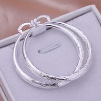 Free shipping wholesale for women's 925 silver earrings 925 silver fashion jewelry twinkle round hoop Earrings SE292