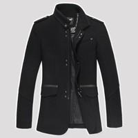 2014 New Mens Winter And Autumn Jackets For Men Trench Coat Wool Men's Jacket Coats Warm Brand Jacket Windcheater Overcoat