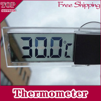 Car Vehicle Electronic Digital Lcd Screen  Thermometer Suction Cup  Back-light Transparent