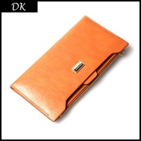 Free shipping 2013 new fashion wallets for leisure brand Pure color soft skin purse cowhide Leather wallet wholesale price