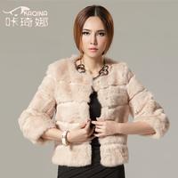 2013 new 2013 fashion rabbit fur coat fur women's short design