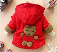 Autumn and winter child thickening outerwear infant outerwear bear top outerwear male female child outerwear