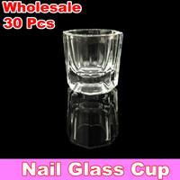 30 X Glass Crystal Bowl Cup Dappen Dish Arcylic Nail Art + Free Shipping