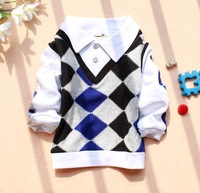 4 pcs/lot 2013 Wholesale Children Kids Clothing Boys T Shirt Long Sleeve Autumn Spring Wear FF632