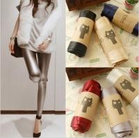 Spring fashion metal color slim skinny pants
