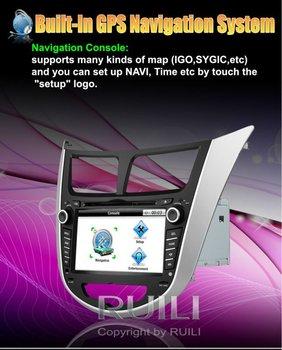 Hyundai Solaris Verna Hot Audio  Radio GPS Navigation Car DVD 2 Din 7 inch  Free Map Free SD  card