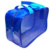 leather cosmetic bag mesh toiletry bag wash bag