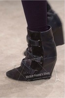 13 fashion isabel marant 2013fw wool patchwork wedge boots