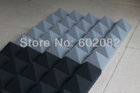 "10pcs Hing Quality Acoustic Pyramid Foam Panels Sponge Gray  Color   2.75 ""thickness"