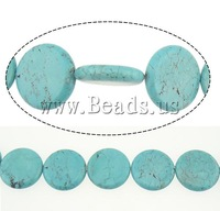 Free shipping!!!Turquoise Beads,ethnic, Natural Turquoise, Coin, blue, 30.50x7mm, Hole:Approx 2mm, Length:Approx 15 Inch