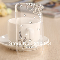 Free shipping 1PCS Luxury 3D Flower Diamond Bling Back Case Cover for Samsung Galaxy W i8150 retail package