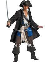 Wholesale Men's Halloween Adult Costume Captain Jack Sparrow Costume M15008