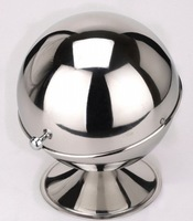 Stainless Steel Spherical Sugar Bowl Food Container Sugar Tank Salt Soup Monosodium Glutamate Tank