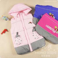 Free shipping the new children down vest boy girl down vest vest waistcoat ladybug