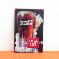 [ Do it ]  Vintage Tin signs Cool Drink 20*30 CM  Mix Ordes Bar Cafe Home Rere Metal decor Poster B-15  FREE SHIPPING