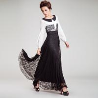 2013 high quality long sleeves Elegant  luxurious women fashion kaftan dress