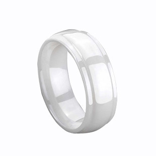 Hot Sale! White ceramic ring minimalist punk fashion jewelry ring Korean version of the influx of men and men's and women rings