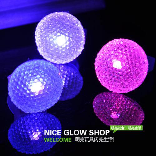 2014 Luminous Toys Seconds Kill 0-12 Months Ten Yuan free Shipping Round Niceglow Fangzuan Ring Led Light Acrylic Finger Props(China (Mainland))