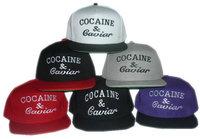 HOT ! Cocain & Caviar  Snapback Caps / Hats, adjustable baseball hats , 6colors to choose+free shipping