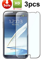 2014 Clear Screen Protector Skin Cover Guard For Samsung Galaxy Note 2 II N7100,3pcs/lot