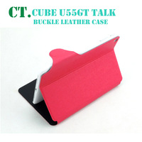 Ultra-thin fashion protective leather case with smart sleep-wake up function for Cube TALK79 U55GT 4 colors