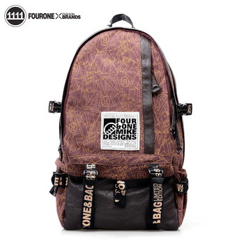 Free shipping backpack canvas backpack middle school students school bag casual computer bag