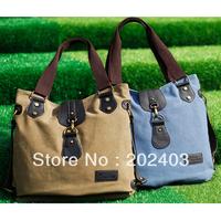 NEW Fashion Girl Canvas Messenger Bag Leisure Shoulder Bag Handbag                Blue/Khaki