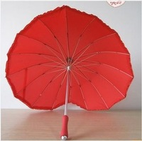 Love umbrella heart umbrella bride long-handled umbrella princess umbrella