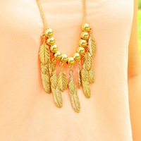 2013 fashion jewelry summer personality leaves series necklace