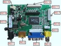HDMI+AV+VGA signal input of LCD main board / lcd driver board