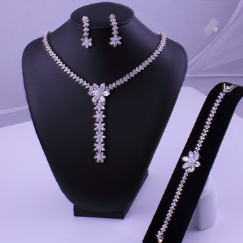 CZ Cubic Zirconia Jewelry Set AAA Quality Fine Collection 2013 Bridal Top Zircon Hot Selling Super Clear Gift - VC Mart