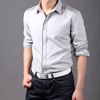 Spring and Autumn Fashionable casual stylish slim waist long sleeve Men shirts,Designer Shirt for men Free Shipping