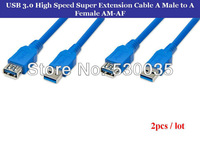 2pcs / Lot USB 3.0 High Speed Super Extension Cable A Male to A Female AM-AF 1.5 M Free Shipment
