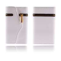 High Quanlity Zipper Leather Wallet Flip Hard  Phone Protect Case With  Card Holder Cover For Iphone 4
