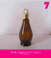 100 ML Gourd aluminum spray bottle(basket ring + rubber head + glass dropper) empty serum bottles essential oil spray bottles