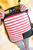 National flag vintage casual backpack bag all-match fashion preppy style PU female bags student backpack