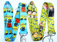 Free Shipping  Despicable Me key  lanyard ID  Holders Minions  neck strap wholesalers+Mix order