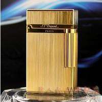 VINTAGE S T DUPONT GOLD COLORED CIGARETTE LIGHTER PARIS FRANCE